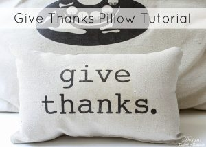 Thanksgiving Decoration Pillow tutorial (Guest Post)