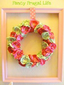 satin flowers wreath