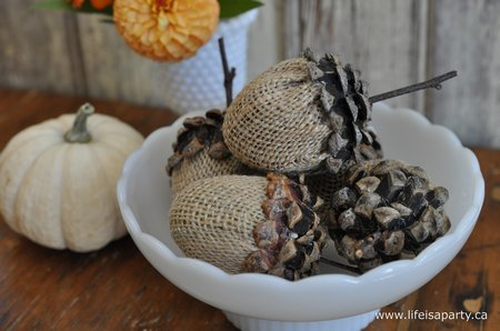 Pinecone acorn craft