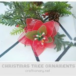 Poinsettia Tree Ornaments