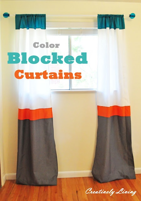 Color Block Curtain Panels DIY Woven Curtains