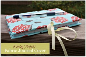 fabric journal cover