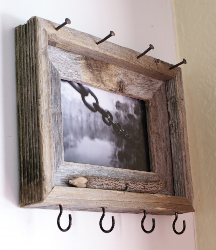 I Am Loving This Quick Organizing Idea By Lauren To Turn An Unfinished  Wooden Picture Frame Into A