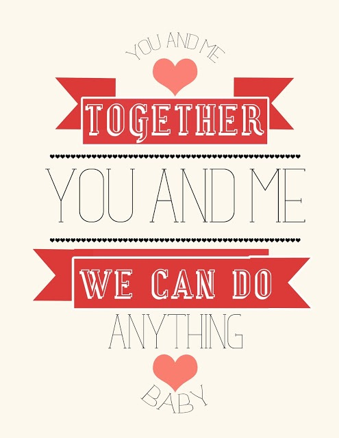 you and me print