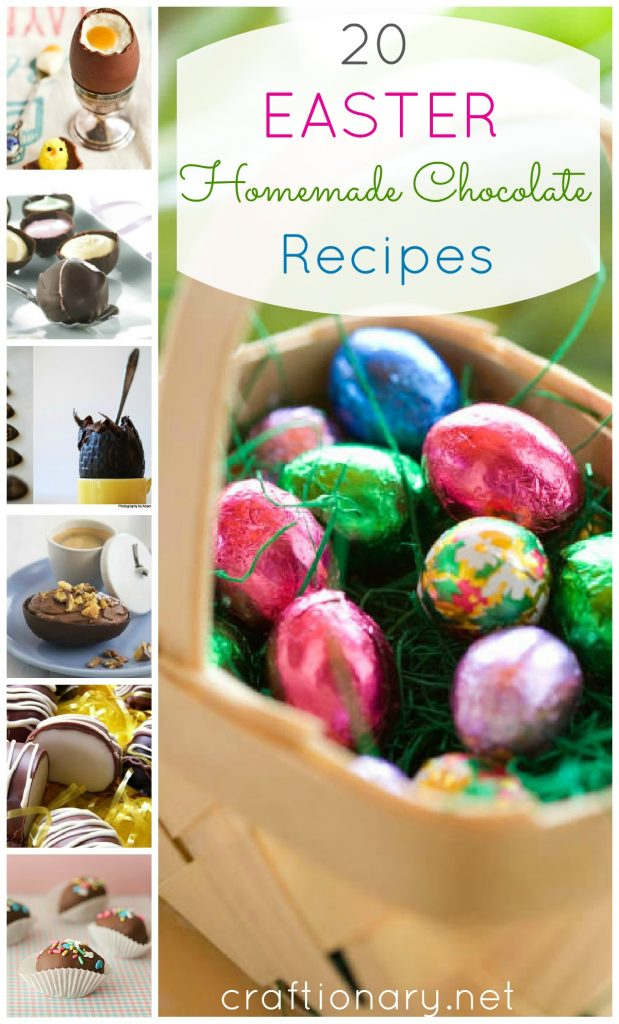 Easter homemade chocolate