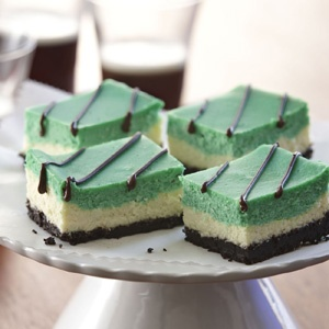 green cheesecake