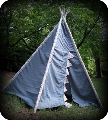 Another tepee handmade tent. With very nice instructions to make one of your own. & Craftionary