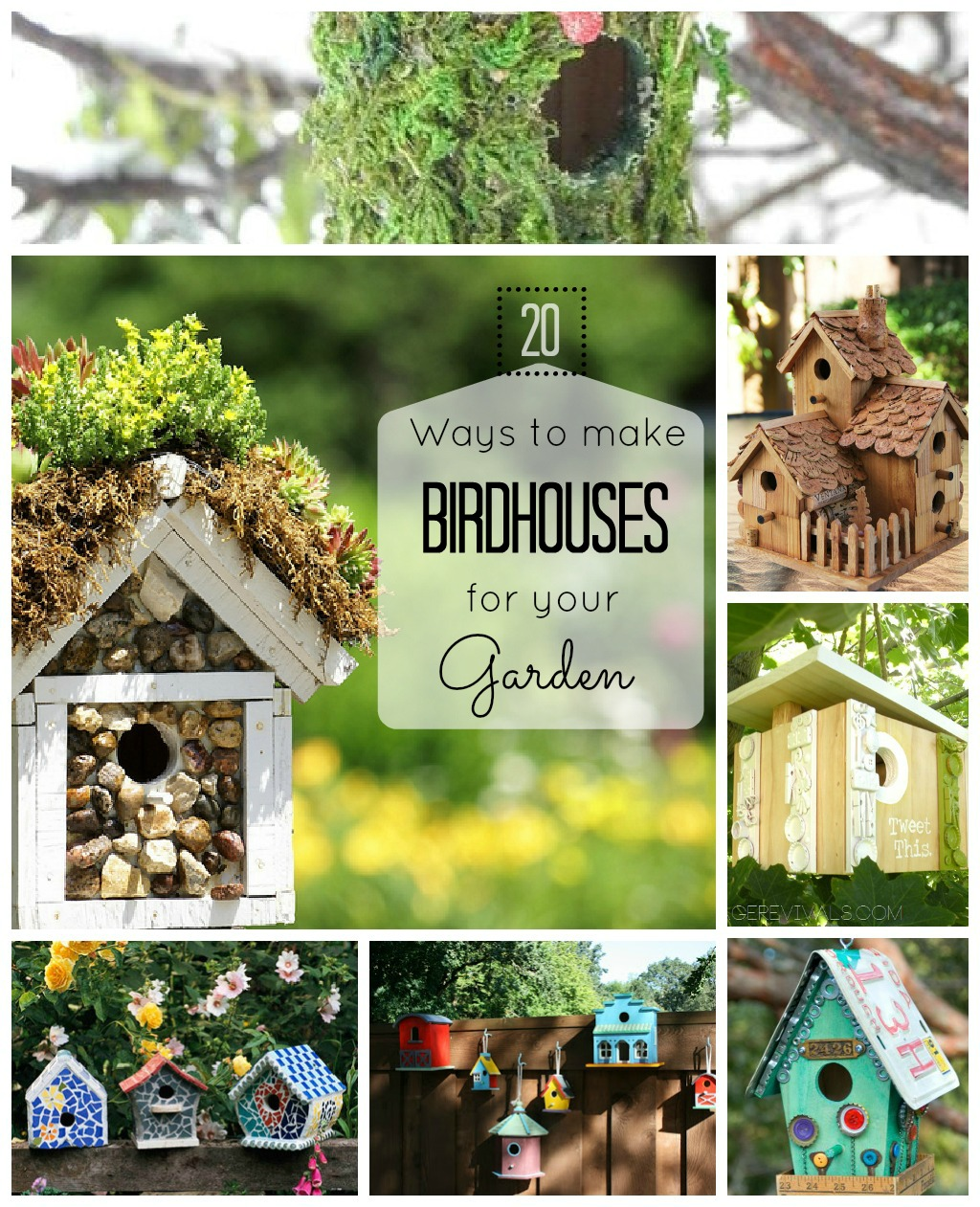 Make birdhouses for garden 20 ideas craftionary for Easy birdhouse ideas