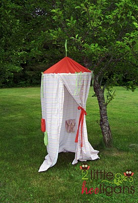 Kids play tent. A canopy tutorial to help you sow this one. & Craftionary