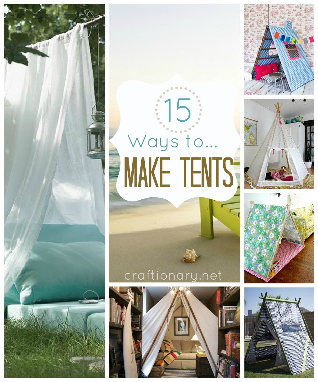 15 Ways to make tent (DIY tent)  sc 1 st  Craftionary : make a play tent - memphite.com