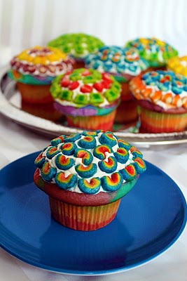rainbow cupcakes recipes