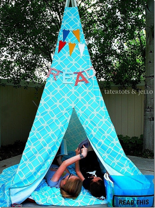 Make a summer reading tent (tepee). & Craftionary