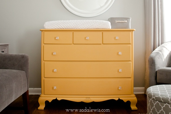 yellow chalk paint furniture