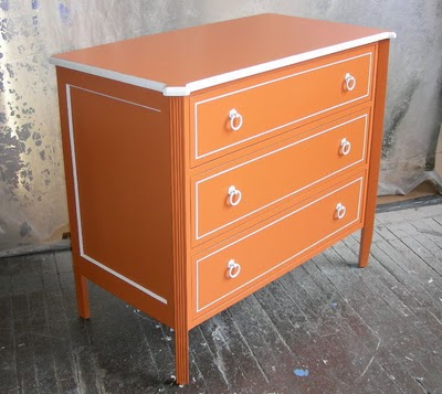 orange painted furniture