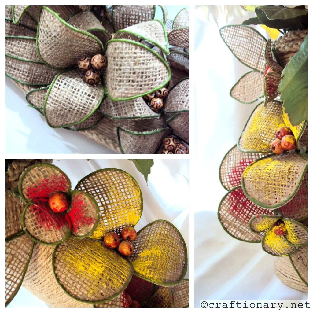 burlap flowers make handmade