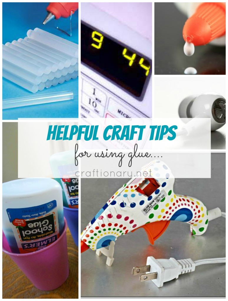 craft tips hot glue