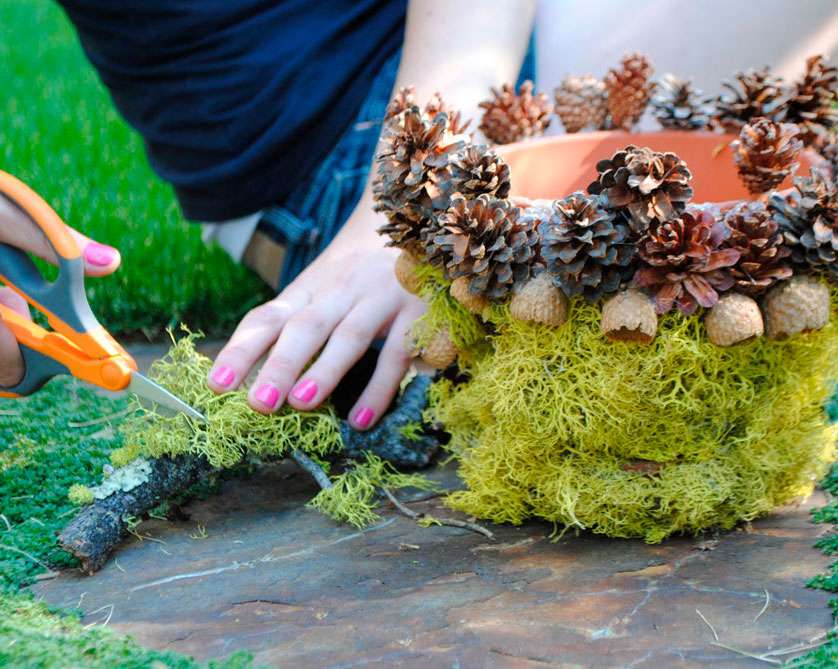 decorating planters with kids