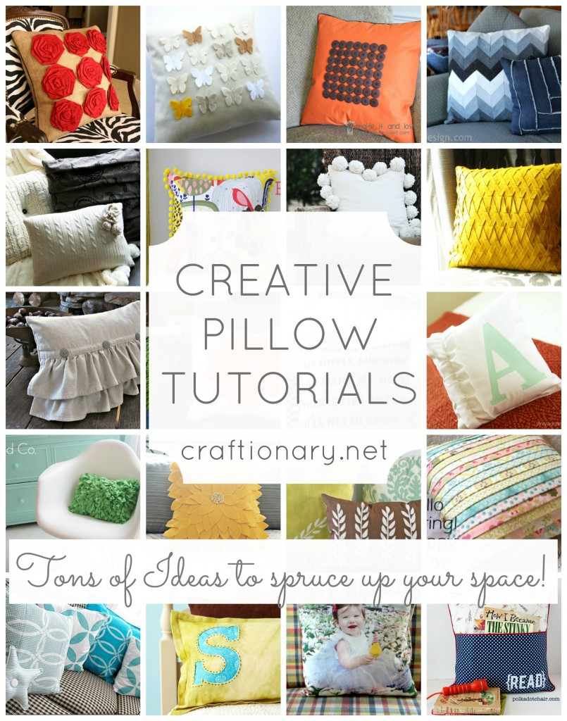 make decorative pillow tutorials