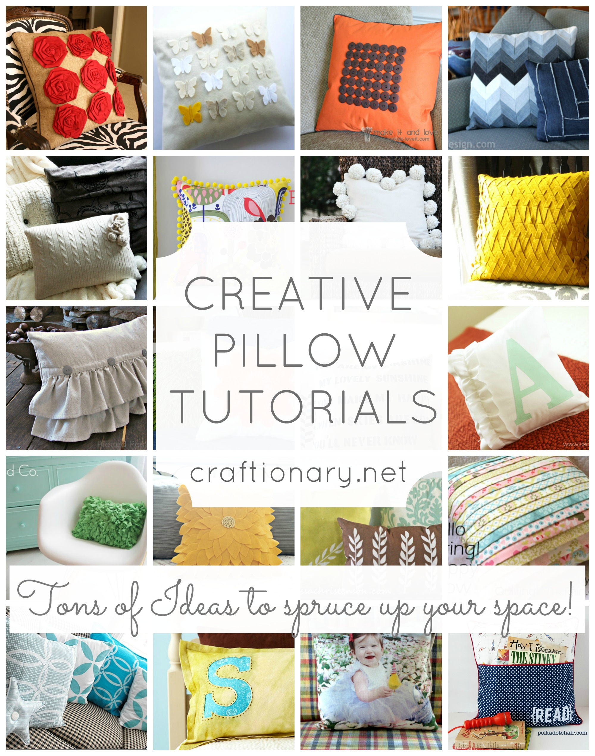 Attractive 25 Easy Decorative Pillow Tutorials (Make Throw Pillows)