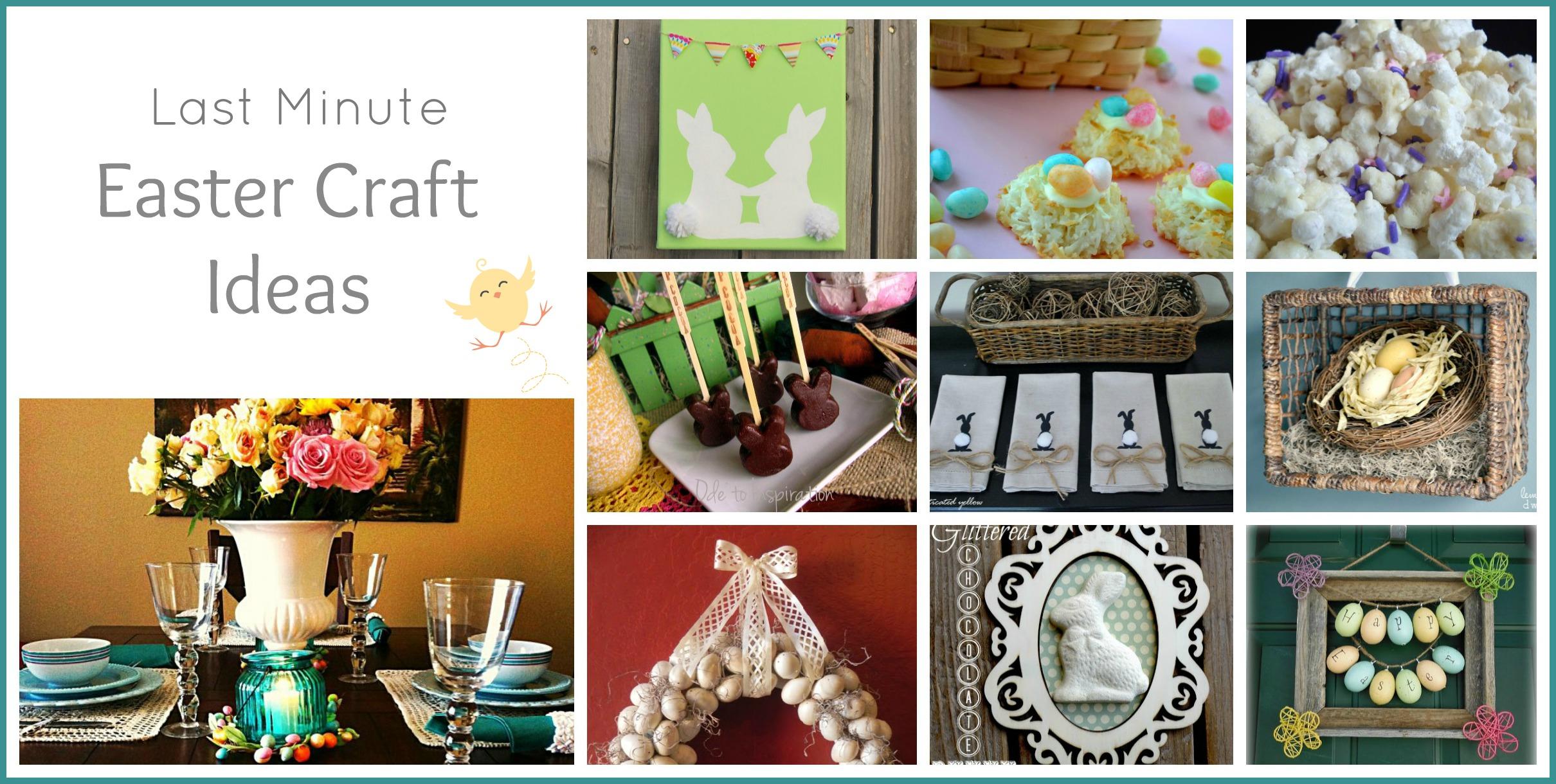 Last Minute Diy Easter Crafts