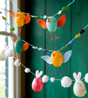 DIY birds garland