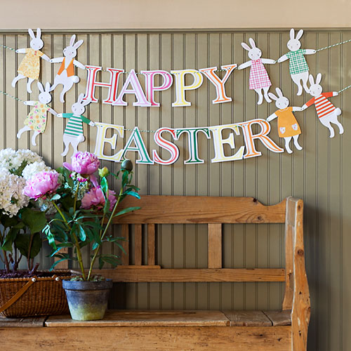 Easter paper garland