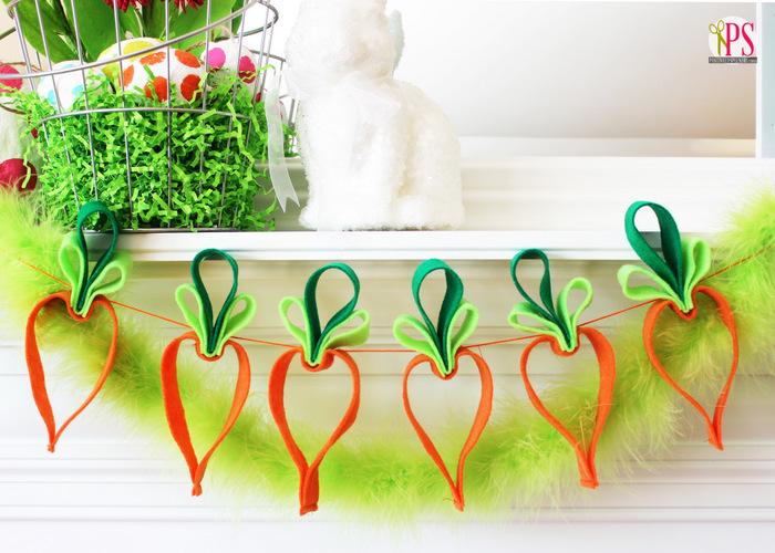 felt carrots garland