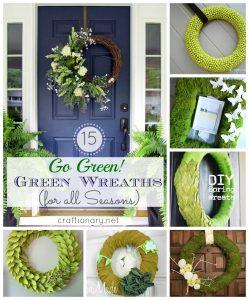 green wreath tutorials