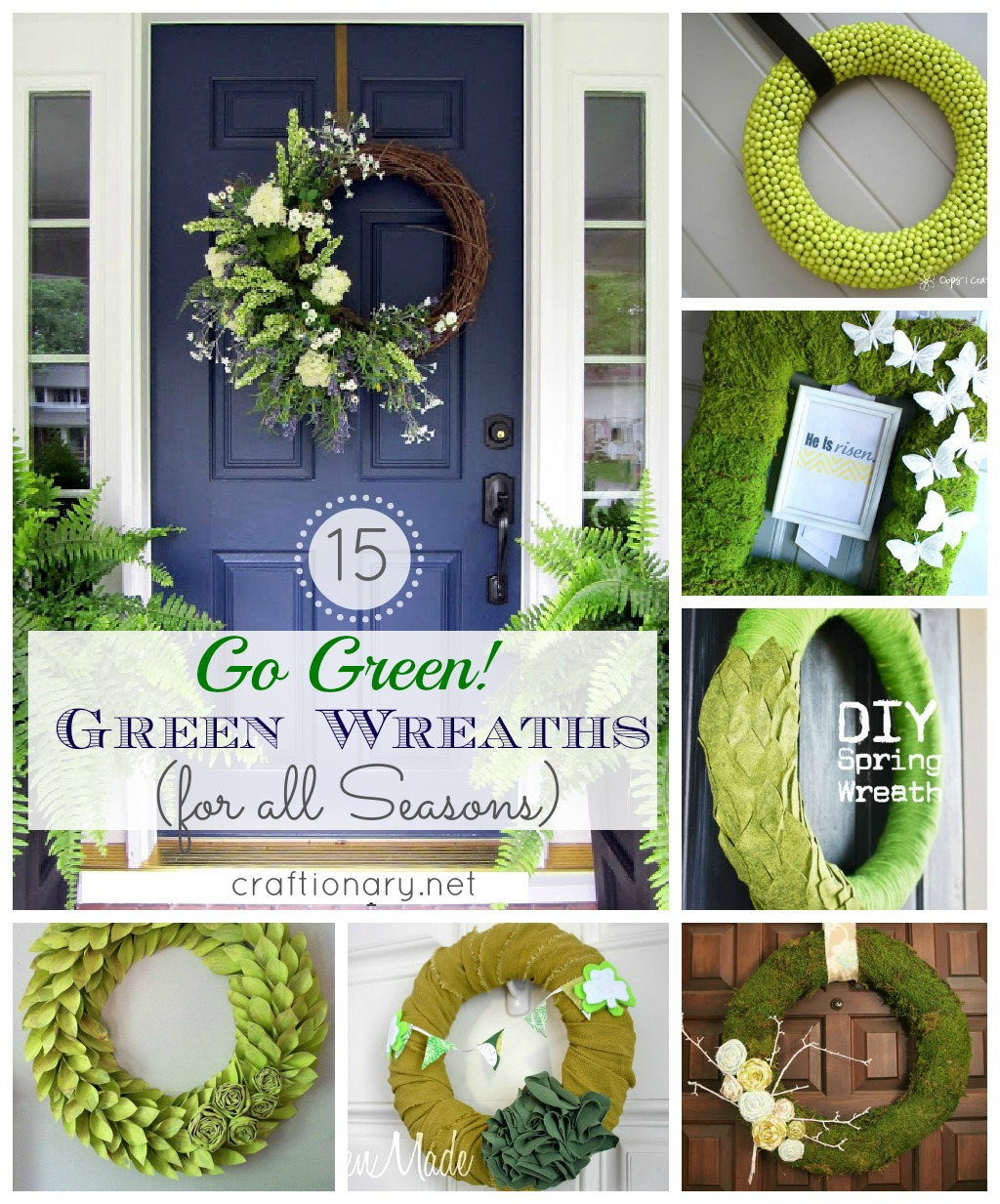 Craftionary 15 green wreaths diy green wreaths check out our category valentines rubansaba