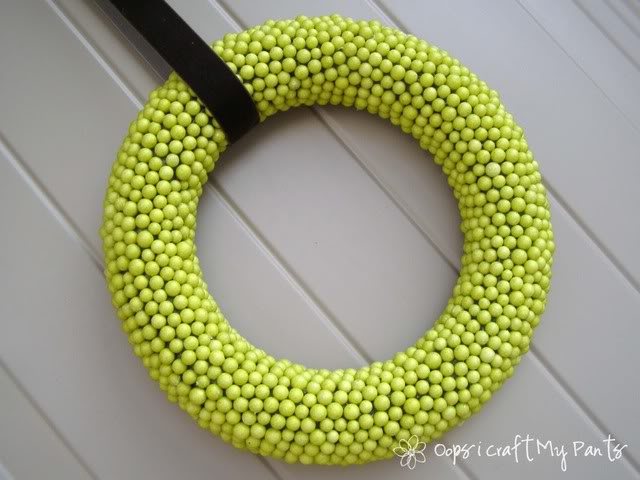 green dollar store wreath