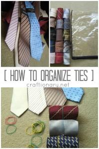 organize ties men closet