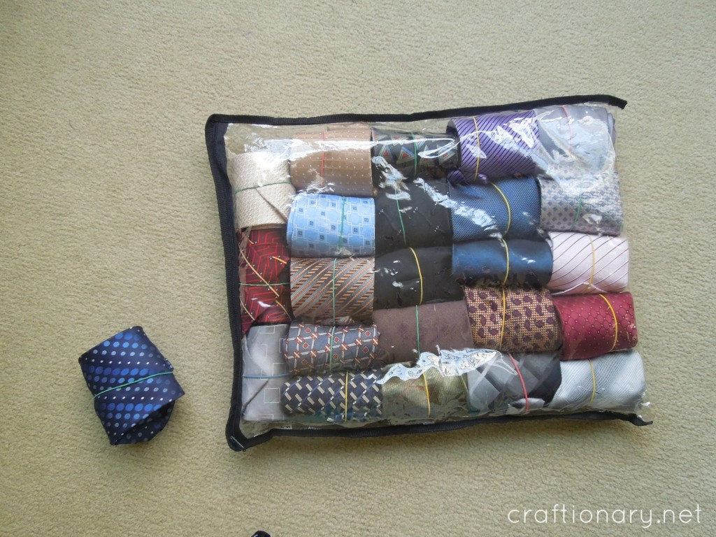 organize ties for him