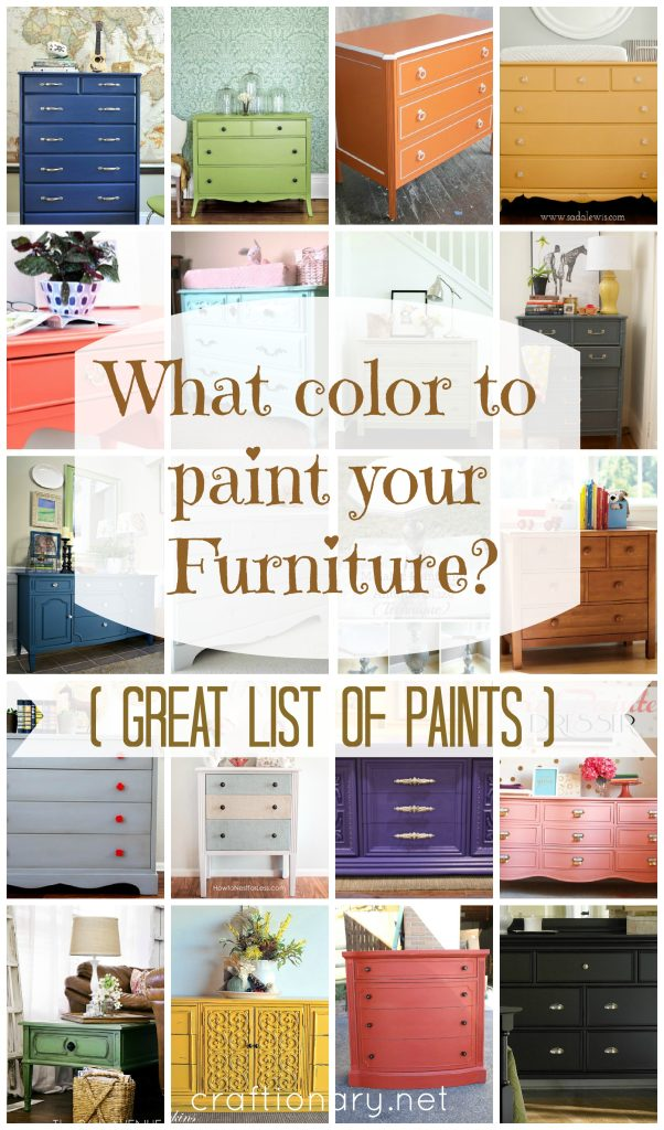 Paint Colors For Furniture Prepossessing With What Color to Paint Furniture Photo