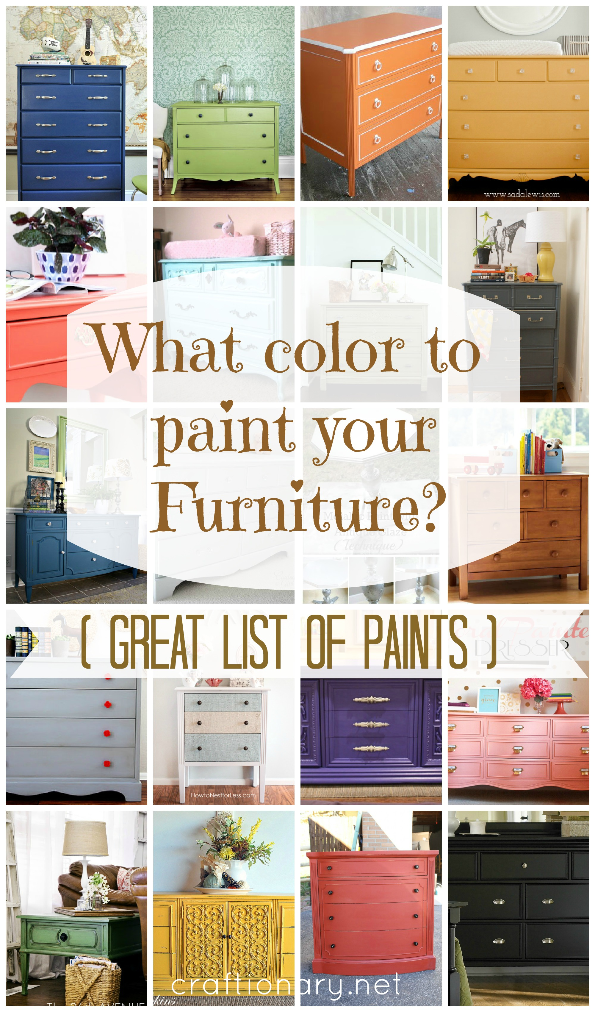 painted furniture colors. what color to paint your furniture 25 diy projects painted colors craftionary