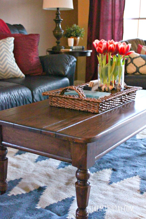 polished coffee table