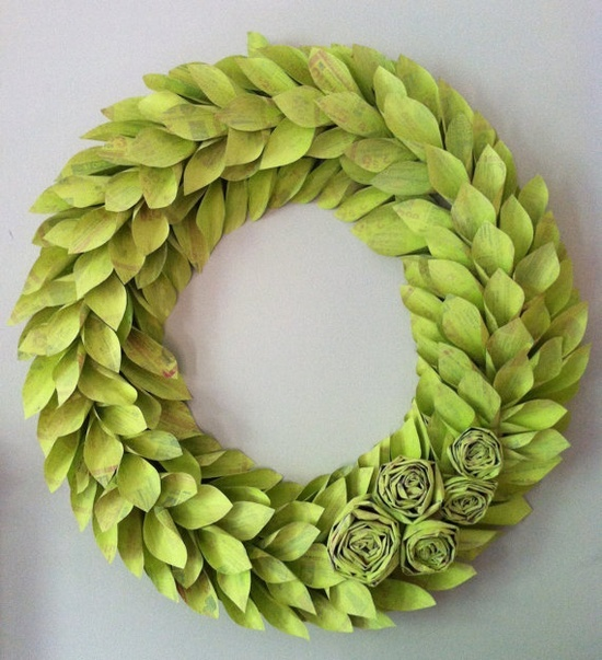 recycle spring wreath
