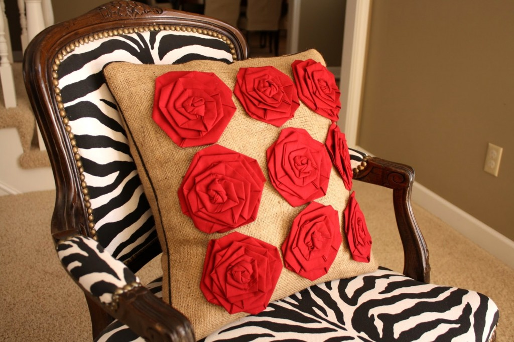 rosettes pillow tutorials