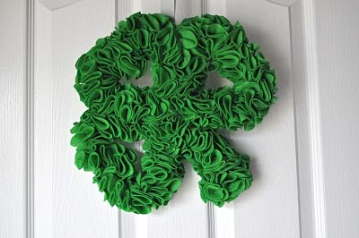 shamrock hanging wreath