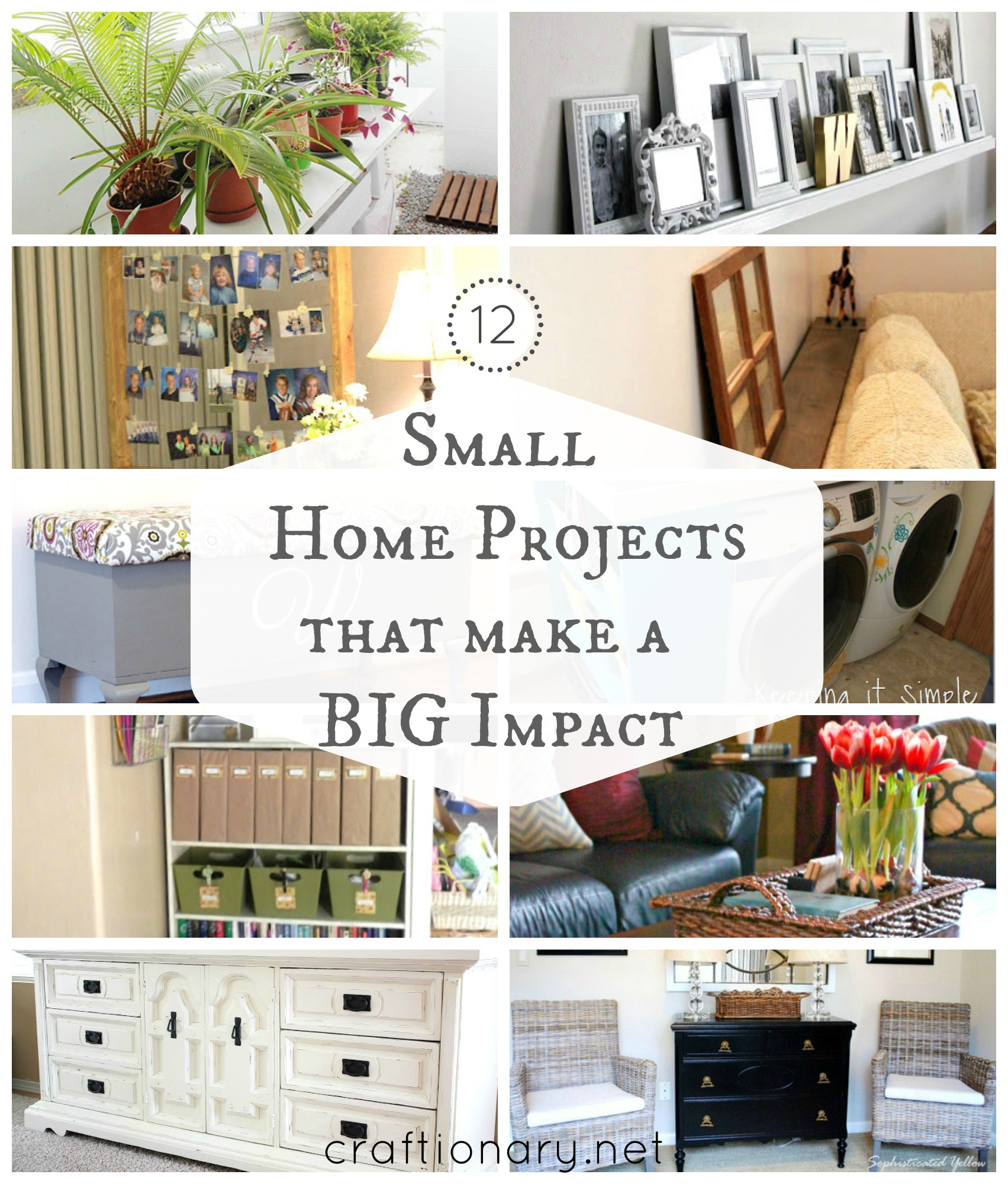 12 DIY Small Home Projects Big Impact