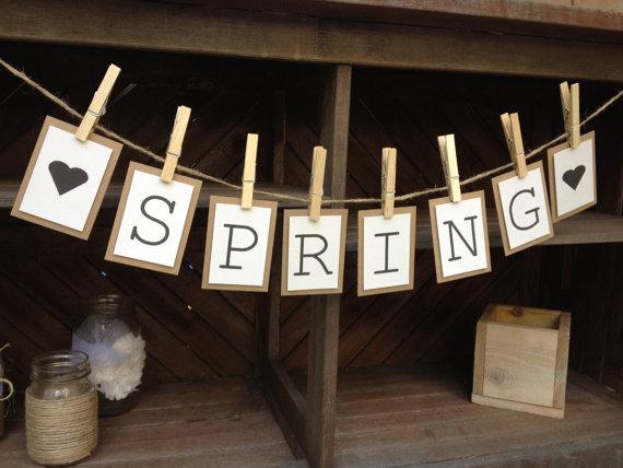 spring printable garland