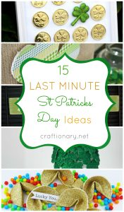 15 Last minute St Patricks Day Crafts