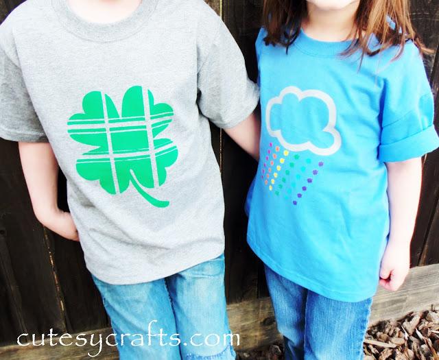 rainbow shirts clover shirts