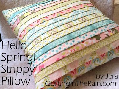 stripes pillow tutorials