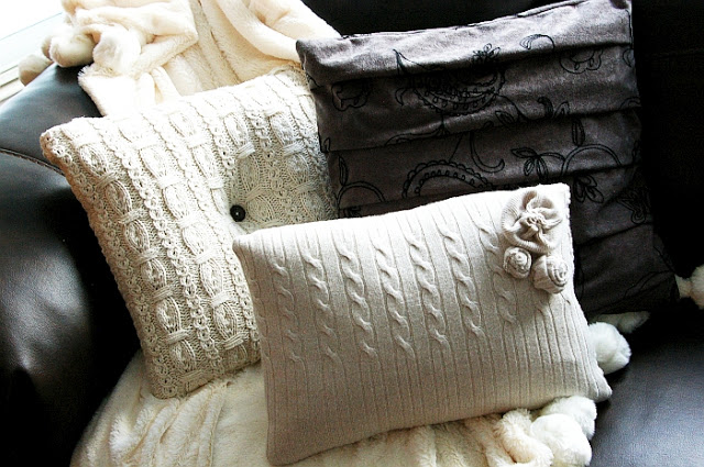 sweater pillow tutorials
