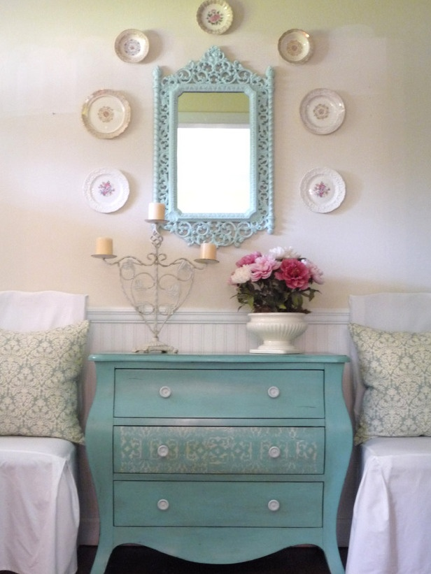 turquoise painted furniture. Craftionary