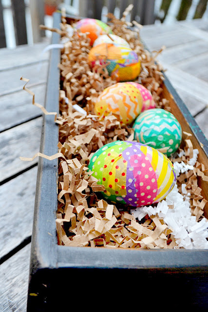 washi easter eggs