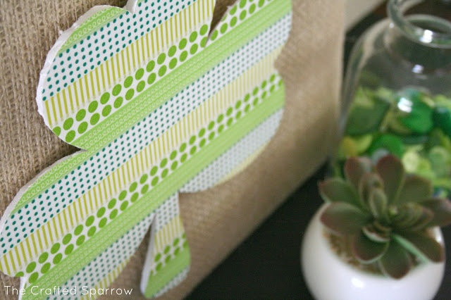 washi tape shamrock