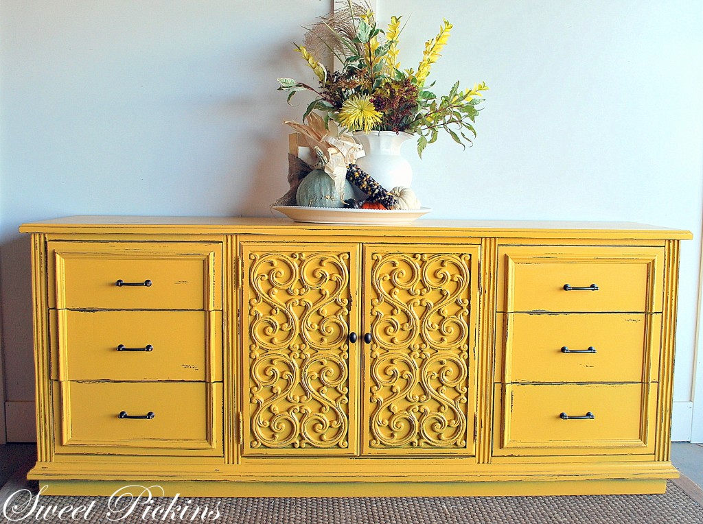 yellow painted furniture - Craftionary