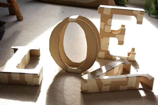 cardboard letters tutorial