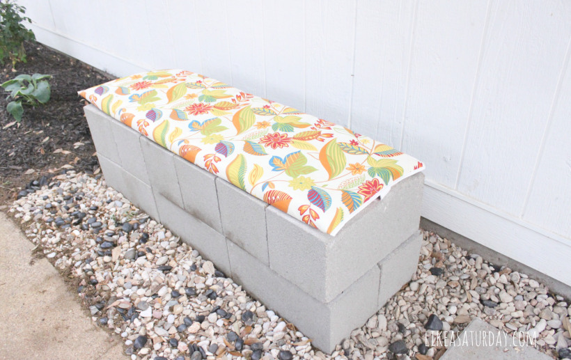 DIY cinder block benches